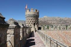 Castle Manzanares EL πραγματικό Στοκ Φωτογραφίες