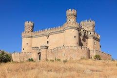 Castle Manzanares el Real Stock Images