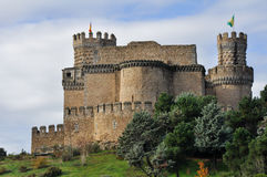 Castle of Manzanares el Real, Madrid, Spain Stock Image