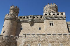 Castle Manzanares El Real. In Spain on a bright and sunny day Royalty Free Stock Photography