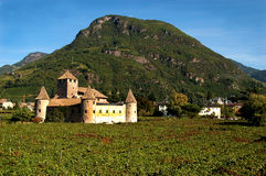 Castle Mareccio, Bolzano, Italy. A medieval castle among vineyards in Bolzano, Italy Royalty Free Stock Photography