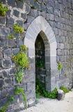 Castle Margat - stone doors stock photos