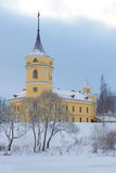 Castle of Marienthal Bip, gloomy December day. Pavlovsk, Russia. Castle of Marienthal Bip, gloomy December day. Pavlovsk. Russia Stock Photo