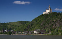 Castle Marksburg at Braubach Royalty Free Stock Image