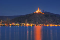 Castle Marksburg on Rhine river, Germany - night picture Stock Image