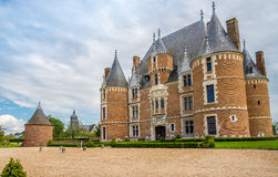 Castle Martainville with turret Royalty Free Stock Photos