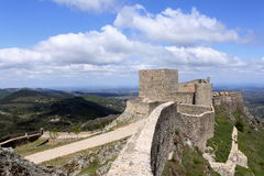 Castle of Marvao. View of Marvao castle in Portugal stock photography