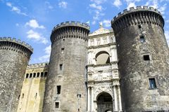 Castle of Maschio Angioino, Naples Italy stock photo