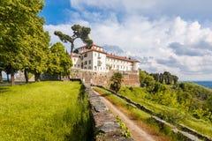 Castle Masino; Piedmont; Italy; Turin,. Castle Masino and garden flowers in Piedmont province Turin Italy Stock Photos