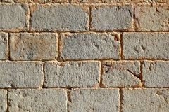 Castle masonry wall carved stone rows Stock Image