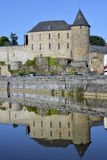 Castle of Mayenne in France Stock Image