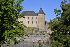 Castle of Mayenne in France Royalty Free Stock Images