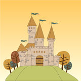 Castle in the meadow Stock Image