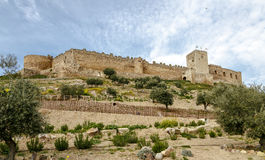 Castle in Medellin, Badajoz Province,  Spain. Castle in Medellin, Badajoz Province, Extremadura, Spain Stock Image