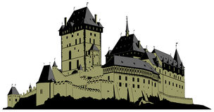 Castle medieval Royalty Free Stock Image
