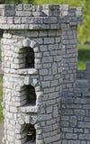 Castle of medieval battlemented Tower shape Stock Image