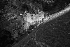 Castle. Medieval castle Black an white Stock Photo
