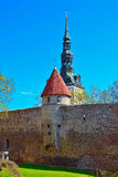 Castle and medieval city wall Royalty Free Stock Images