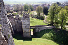 Castle medieval English Arundel Stock Image