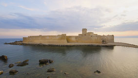 The Castle in the mediterranean sea Royalty Free Stock Photo