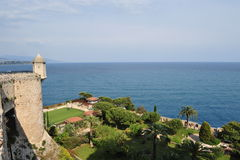 Castle mediterranean sea Royalty Free Stock Photo