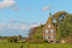 Castle Meeuwen is a 19th century Dutch castle Stock Images