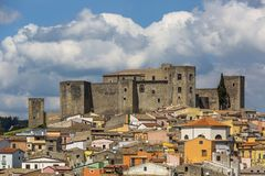 The Castle of Melfi in Basilicata, Italy royalty free stock image