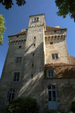 Castle of Menetou Couture. Medieval castle with donjon, France royalty free stock images