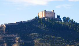 Castle of Mequinenza.  Aragon Stock Image