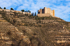 Castle of Mequinenza.   Spain Royalty Free Stock Image
