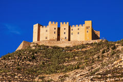 Castle of Mequinenza in sunny day Stock Images