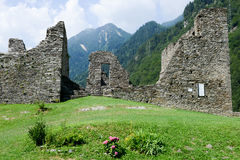 The castle of Mesocco, Switzerland Royalty Free Stock Photos