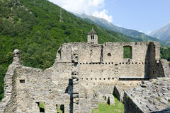 The castle of Mesocco, Switzerland Royalty Free Stock Photography
