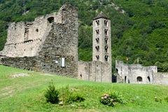 The castle of Mesocco, Switzerland Stock Photos