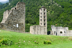 The castle of Mesocco, Switzerland Royalty Free Stock Images