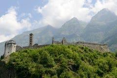 The castle of Mesocco, Switzerland Stock Image