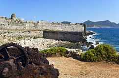 Castle of methoni at Greece Royalty Free Stock Photo