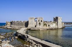 The castle of Methoni Messenia Peloponnese Greece - medieval Venetian fortification. Greek landmarks stock photography