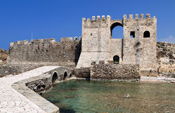 Castle of Methoni at Peloponnese, Greece stock photo