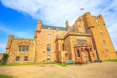 Castle of Mey. Barrogill castle near Thurso of the Highland in Scotland, United Kingdom. Castle of Mey popular landmark and famous touristic attraction stock image