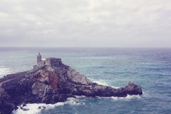 Castle in the middle of the sea Royalty Free Stock Photography