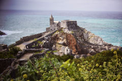 Castle in the middle of the sea Royalty Free Stock Images