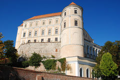 Castle in Mikulov. Czech republic is dominant feature in this town Royalty Free Stock Images