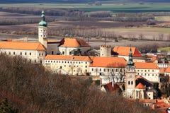 Castle Mikulov in Moravia stock photos