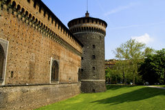 Castle in Milan Royalty Free Stock Photo