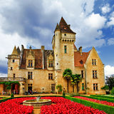 Castle  Milandes, Dordogne . France Royalty Free Stock Image