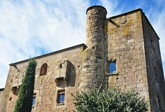 Castle mill of the Ratera-catalonia Stock Photos