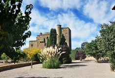 Castle mill of the Ratera-catalonia Royalty Free Stock Image