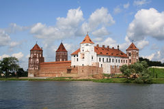 Castle in Mir. In Belarus Stock Images