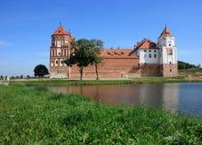 Castle of Mir in Belarus Stock Images